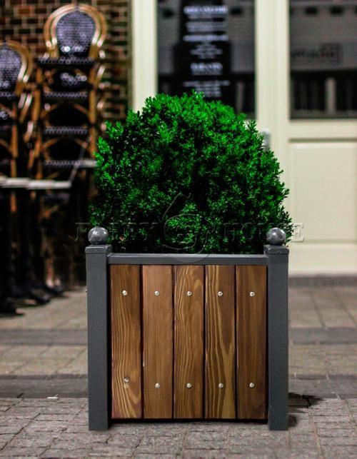 САДОВИЙ КОНТЕЙНЕР ДЛЯ дерев та рослин з дерева та металу Вікторія  Д76*Ш76*В76