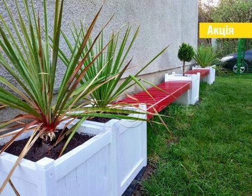 Деревяний садовий ВАЗОН для рослин та квітів Софія Д48*Ш48*В51