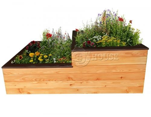 Дерев'яна висока садова грядка для рослин, овочів, квітів 1  Д150*Ш75*В60