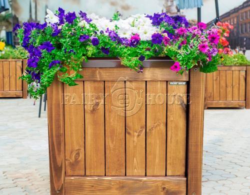 Дерев'яний ящик для рослин та квітів Марго Д48*Ш48*В48