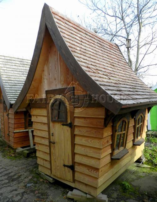 Вуличний дерев'яний будинок Лісовика для дітей