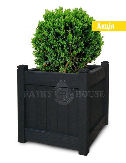 Деревяний садовий ВАЗОН для рослин та квітів Софія Д41*Ш41*В44