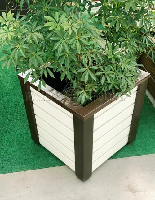 Дерев'яний ящик для рослин та квітів Амалія-2  Д48,5*Ш48,5*В49