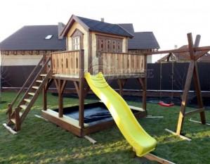 """Дитячий вуличний ігровий майданчик """"Мініпут"""", будиночок з гіркою"""