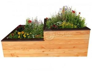 Дерев'яна висока садова клумба, грядка для рослин, овочів, квітів 1  Д150*Ш75*В60