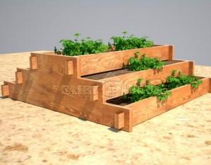 Дерев'яна садова клумба для рослин, овочів, квітів 2