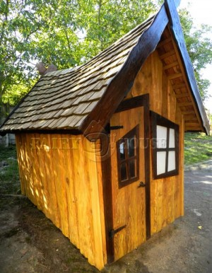 Вуличний дерев'яний будинок ЗАБОРОНЕНОГО ЛІСУ для дітей