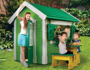Дерев'яний вуличний будиночок Мініпутів для дітей(1)