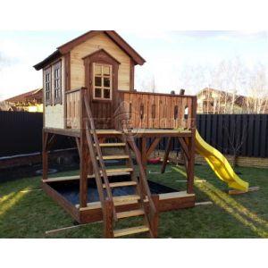 """Дитячий вуличний ігровий майданчик """"Мініпут"""", будиночок з гіркою фото 6"""