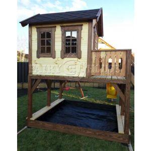 """Дитячий вуличний ігровий майданчик """"Мініпут"""", будиночок з гіркою фото 8"""