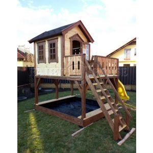 """Дитячий вуличний ігровий майданчик """"Мініпут"""", будиночок з гіркою фото 4"""