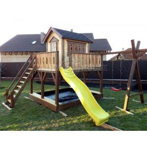 """Дитячий вуличний ігровий майданчик """"Мініпут"""", будиночок з гіркою фото 1"""