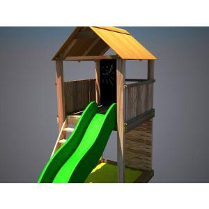 """Дерев'яний ігровий комплекс """"Супергерой"""", будиночок з гіркою фото 4"""