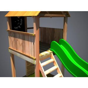"""Дерев'яний ігровий комплекс """"Супергерой"""", будиночок з гіркою фото 2"""