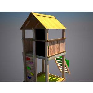 """Дерев'яний ігровий комплекс """"Супергерой"""", будиночок з гіркою фото 5"""