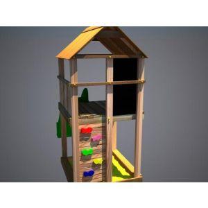 """Дерев'яний ігровий комплекс """"Супергерой"""", будиночок з гіркою фото 3"""