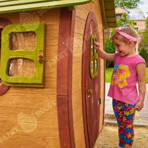 Вулична дерев'яна дитяча хатинка Ельфа  фото 10