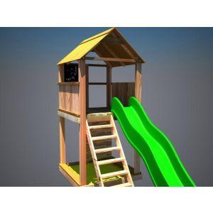 """Дерев'яний ігровий комплекс """"Супергерой"""", будиночок з гіркою фото 1"""