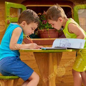 Вулична дерев'яна дитяча хатинка Ельфа  фото 9