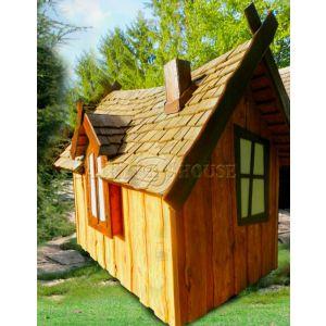 Вуличний дерев'яний будинок ЗАБОРОНЕНОГО ЛІСУ для дітей фото 3