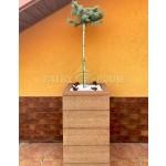 КОНТЕЙНЕР для дерев та рослин Делі з терасної дошки та металу  Д50*Ш50*В44 фото 1