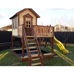 """Дитячий вуличний ігровий майданчик """"Мініпут"""", будиночок з гіркою фото 5"""