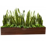 Дерев'яний ВАЗОН кашпо для рослин та квітів Марокко Д100*Ш20*В20 фото 3