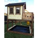 """Дитячий вуличний ігровий майданчик """"Мініпут"""", будиночок з гіркою фото 7"""