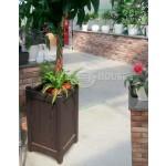 Дерев'яний ВАЗОН кашпо для рослин та квітів Ліон Д40*Ш40*В70 фото 4