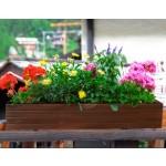 Дерев'яний ВАЗОН кашпо для рослин та квітів Марокко Д100*Ш20*В20 фото 2