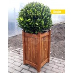 Дерев'яний ВАЗОН кашпо для рослин та квітів Ліон Д40*Ш40*В70 фото 1
