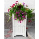 Дерев'яний ВАЗОН кашпо для рослин та квітів Ліон Д40*Ш40*В70 фото 3