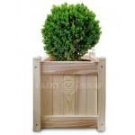 Дерев'яний ВАЗОН для рослин та квітів Софія Д54*Ш54*В57 фото 7
