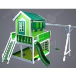 """Дитячий вуличний ігровий майданчик """"Мініпут"""", будиночок з гіркою фото 2"""