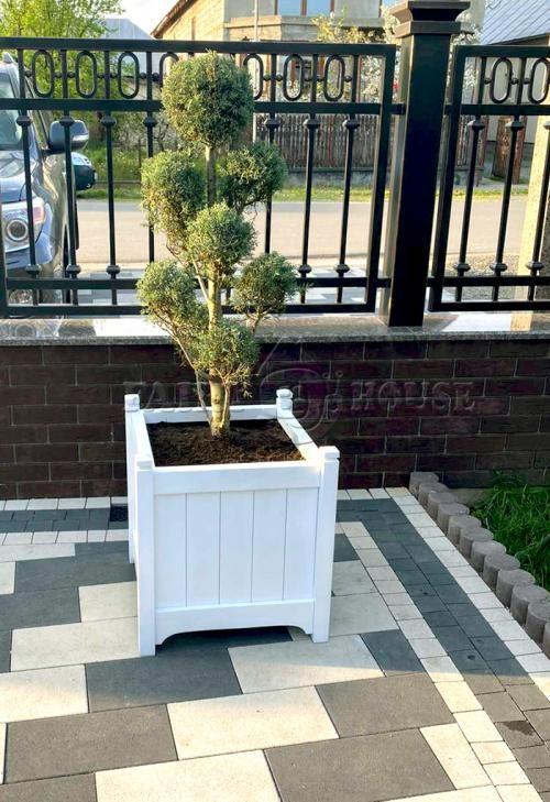 кашпо з дерева для рослин Версаль Д55*Ш55*В60