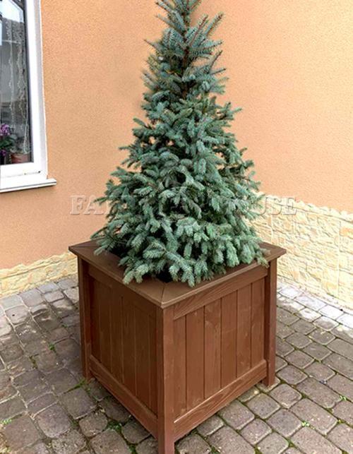 Дерев'яний садовий ящик для рослин та квітів Селеста Д53*Ш53*В49