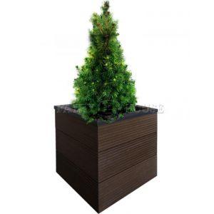 КОНТЕЙНЕР для дерев та рослин Делі з терасної дошки та металу  Д50*Ш50*В44 фото 20