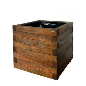 Дерев'яний ящик для рослин та квітів Мілан  Д50*Ш50*В48 фото 2
