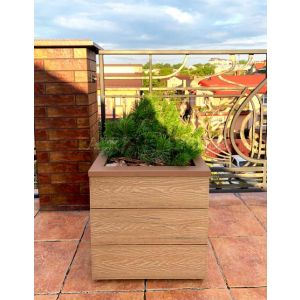 КОНТЕЙНЕР для дерев та рослин Делі з терасної дошки та металу  Д50*Ш50*В44 фото 5
