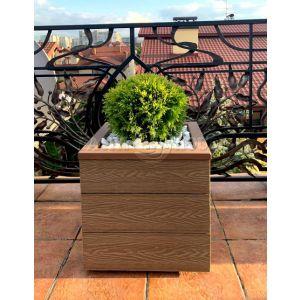 КОНТЕЙНЕР для дерев та рослин Делі з терасної дошки та металу  Д50*Ш50*В44 фото 3