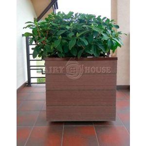 КОНТЕЙНЕР для дерев та рослин Делі з терасної дошки та металу  Д50*Ш50*В44 фото 8