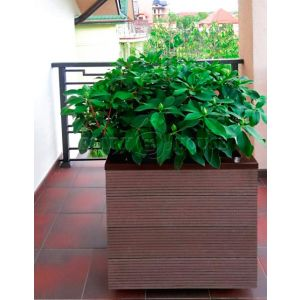 КОНТЕЙНЕР для дерев та рослин Делі з терасної дошки та металу  Д50*Ш50*В44 фото 7