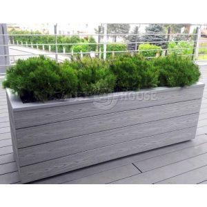 КОНТЕЙНЕР для дерев та рослин Делі з терасної дошки та металу  Д50*Ш50*В44 фото 11