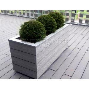 КОНТЕЙНЕР для дерев та рослин Делі з терасної дошки та металу  Д50*Ш50*В44 фото 13