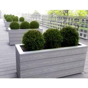 КОНТЕЙНЕР для дерев та рослин Делі з терасної дошки та металу  Д50*Ш50*В44 фото 15