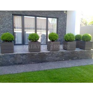 КОНТЕЙНЕР для дерев та рослин Делі з терасної дошки та металу  Д50*Ш50*В44 фото 12