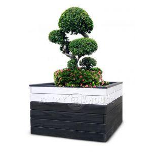 САДОВИЙ КОНТЕЙНЕР ДЛЯ РОСЛИН ТА КВІТІВ з дерева та металу Сонет Д80*Ш50*В53 фото 3