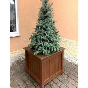 Дерев'яний садовий ящик для рослин та квітів Селеста Д53*Ш53*В49 фото 1
