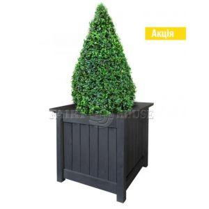 Дерев'яний садовий ящик для рослин та квітів Селеста Д59*Ш59*В56 фото 1