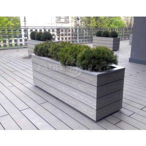 КОНТЕЙНЕР для дерев та рослин Делі з терасної дошки та металу  Д50*Ш50*В44 фото 9